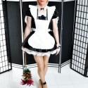 Free porn pics of Transvestite - Nina Chantal PVC French Maid 1 of 9 pics